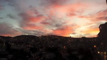 Coucher de soleil sur les cerros, Valparaiso