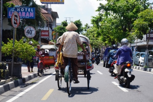 Un taxi à Jogjakarta